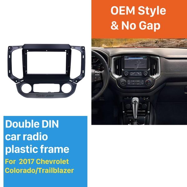 Quadro preto para 9 polegadas 2017 Chevy Chevrolet Colorado / Trailblazer Audio Dash Trim Fascia Panel Kit