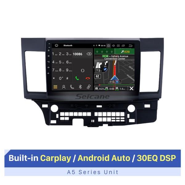 Sistema de navegação GPS Android 10.0 de 10,1 polegadas para Mitsubishi LANCER 2007-2015 com tela de toque Bluetooth HD OBD2 DVR Câmera retrovisora TV 1080P Vídeo USB Controle do volante