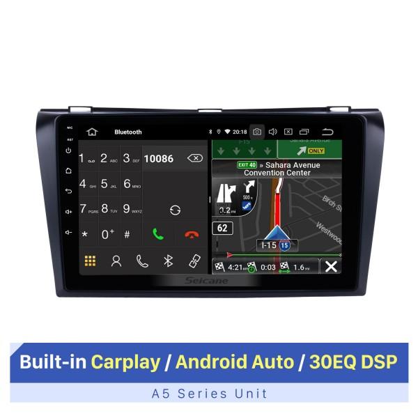 Tudo-em-um Android 10.0 2004-2009 Mazda 3 Radio Upgrade com o sistema de navegação Dash GPS 1024 * 600 Tela capacitiva multitoque Bluetooth Música OBD2 3G WiFi HD 1080P DVR USB Câmera de backup