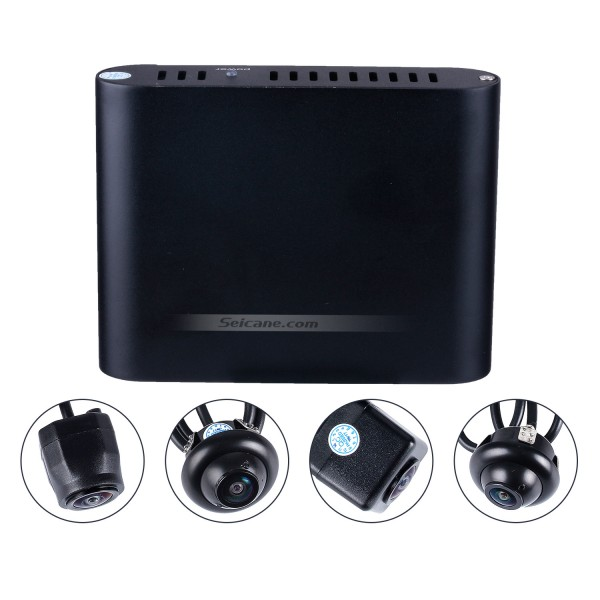 Universal 360 ° Surround View Sistema de Assistente de estacionamento com 4 câmeras de 180 ° 2D Display Backup Reverse Assistance Car Kit Sistema de estacionamento