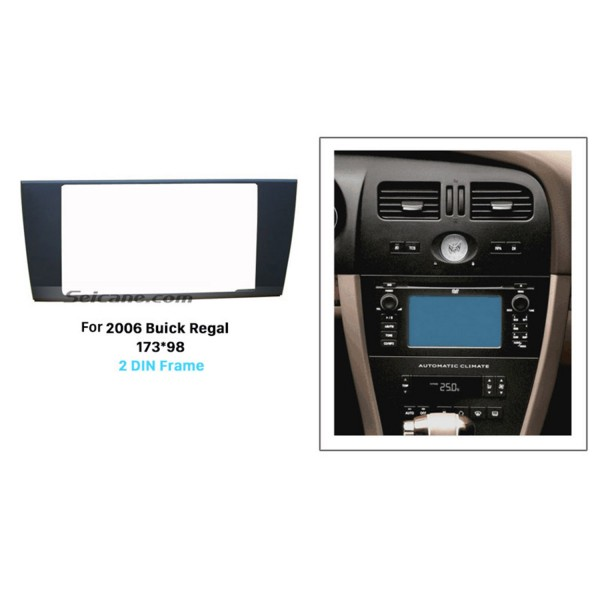 173 * 98mm Double Din 2006 Buick Regal Carro Rádio Fascia Trim Bezel Interface Autostereo Painel Painel Fitting Frame