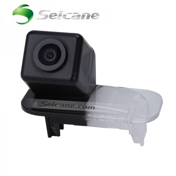 HD Wired Car Parking Backup Reversing Camera for 2015 Skoda Octavia Superb Waterproof four-color ruler and LR logo Night Vision free shipping
