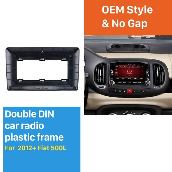 Fáscia Quadro Preto 10.1 polegada Para 2012-2020 Fiat 500L Kit de Montagem no Traço Painel de Guarnição Sem lacunas