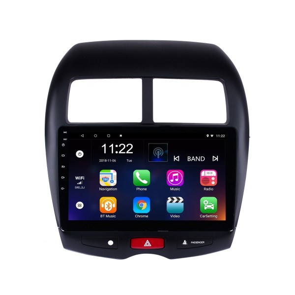 10,1 polegadas 2010-2015 Mitsubishi ASX Peugeot 4008 1024 * 600 HD Tela sensível ao toque Android 10.0 GPS Rádio com Sat Nav Bluetooth USB WIFI DVR OBD2 Link de espelho 1080P Vídeo