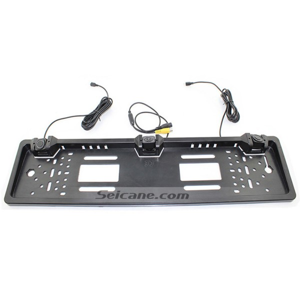 New Arrival Two Reversing Radar Car Reversing Rear/Front View Camera Parking European License Plate Frame Buzzer