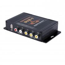 Caixa de sintonizador de TV digital DVB-T do carro LCD / CRT VGA / AV Stick Tuner Box View Receiver Converter Drop shipping