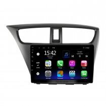 Android 10.0 HD Touchscreen de 9 polegadas para HONDA CIVIC LHD EUROPEAN VERSION 2012 Sistema de navegação GPS por rádio com suporte para Bluetooth Câmera traseira Carplay