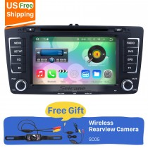 Seicane S127699 Quad-core Android 7.1.1 2009-2013 Skoda Octaiva DVD Bluetooth Aftermarket OEM GPS Stereo com 3G WiFi Rádio RDS 16G o Flash Espelho Retrovisor Link OBD2 Steering Wheel Control Camera HD 1024 * 600 tela Multi-touch