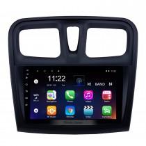 9 polegada Android 10.0 GPS Rádio de Navegação para 2012-2017 Renault Sandero com suporte a Bluetooth USB HD Touchscreen Carplay DVR OBD