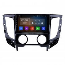 9 polegadas Android 9.0 2015 Mitsubishi TRITON Manual A / C 1024 * 600 Rádio Touchscreen com GPS Navi USB FM Bluetooth suporte WIFI RDS Carplay 4G DVD Player