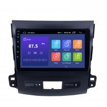 2006-2014 MITSUBISHI Outlander 9 polegadas Touch Screen Android 10.0 Rádio Bluetooth GPS Sistema de navegação com suporte para WIFI OBD2 DVR Câmera de backup TV USB Mirror link