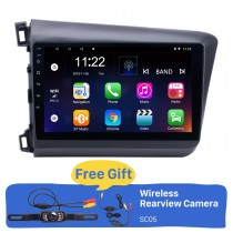 10,1 polegadas Android 8.1 Rádio GPS Car Audio System para 2012 Honda Civic LHD com Bluetooth Música 3G WiFi LinkMirror OBD2 HD 1024 * 600 Multi-touch Tela Capacitiva