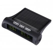 Novo TPMS Solar Power Car Wireless Sistema externo de monitoração de pressão do pneu Display LCD com 4 sensores externos