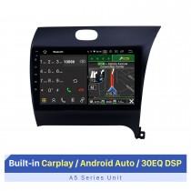 2012-2016 Kia K3 RHD Android 10.0 9 polegadas Rádio de navegação GPS Bluetooth HD Touchscreen WIFI USB Suporte para carplay TV digital