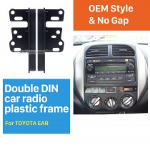 13 milímetros Double Din Toyota Ear Sides Radio Car Fascia Dash Mount Kit Face Plate moldura do painel Adaptador Autostereo