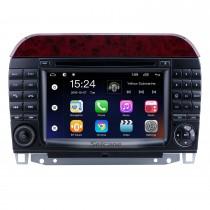 7 polegadas Android 9.0 para 1998 1999 2000-2005 Mercedes Benz Classe S W220 / S280 / S320 / S320 CDI / S400 CDI / S350 / S430 / S500 / S600 / S55 AMG / S63 AMG / S65 AMG Rádio com tela sensível ao toque HD Sistema de navegação GPS Bluetooth suporte Carpl