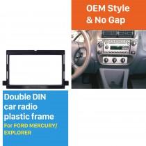 173 * 98mm Double Din Fase de rádio de carro para Ford Edge Expedition Explorer Focus Mustang Mercury DVD Painel de quadro Adaptador de adaptador automático