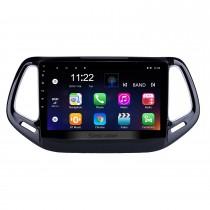 10.1 polegada hd touchscreen 2017 jeep bússola android 10.0 unidade principal gps rádio de navegação com usb bluetooth wi-fi apoio dvr câmera de backup obd2 tpms