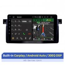 Rádio de navegação GPS Android 10.0 de 9 polegadas para 1998-2006 BMW M3 / 3 Series E46 / 2001-2004 MG ZT / 1999-2004 Rover 75 Com tela sensível ao toque HD com suporte para Bluetooth Carplay
