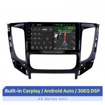 2015 Mitsubishi TRITON Auto A / C 9 polegadas Android 10.0 Rádio Navegação GPS com HD Touchscreen Bluetooth WIFI USB AUX RDS Controle de volante