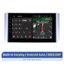 2017-2018 Mitsubishi Xpander Android 10.0 9 polegadas Rádio de navegação GPS Bluetooth HD Touchscreen USB Carplay Música AUX suporte TPMS OBD2 TV digital