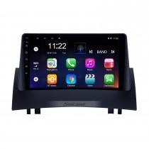 HD Touchscreen 9 polegadas Android 10.0 Rádio Navegação GPS para 2004-2008 Renault Megane 2 com suporte Bluetooth AUX Carplay TPMS