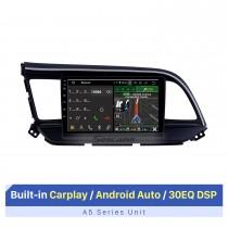 2016 Hyundai Elantra LHD Aftermarket Android 10.0 9 polegadas Rádio de navegação GPS Bluetooth Player multimídia Carplay Música Suporte AUX Câmera de backup 1080P