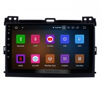 2002-2009 Toyota Prado Cruiser Android 10.0 Autoradio DVD Sistema de Navegação com 3G WiFi Bluetooth LinkMirror OBD2 Retrovisor Câmera HD 1024 * 600 Multi-touch Screen