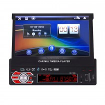 único 1Din Carro Estéreo Ecrã Tátil Rádio Música Bluetooth Sistema de navegação GPS MP3 MP5 Player