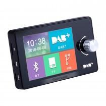 Adaptador de música USB / TF / DAB + receptor Bluetooth para música no carro com tela TFT-LCD de 2,8 polegadas e cores reais