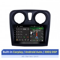 2012-2017 Renault Dacia Sandero Android 10.0 9 polegadas Rádio de navegação GPS Bluetooth HD Touchscreen com suporte para TPMS 1080P