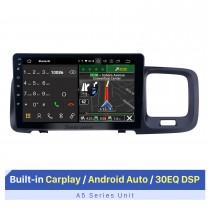 HD Touchscreen de 9 polegadas Android 10.0 GPS Navigation Radio para 2011 2012 2013 2014 2015 Volvo S60 com Bluetooth AUX WIFI com suporte para Carplay TPMS DAB + OBD2