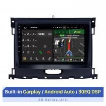 2018 Ford Ranger Android 10.0 9 polegadas Rádio de navegação GPS Bluetooth HD Touchscreen WIFI USB Carplay com suporte DAB + SWC