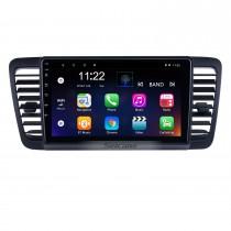 HD Touchscreen 9 polegadas Android 10.0 para 2004 2005 2006-2009 Subaru Legacy Radio Sistema de Navegação GPS com suporte Bluetooth Carplay DVR