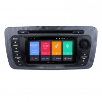 Sistema GPS Android 10.0 Autoradio DVD para 2009 2010 2011 2012 2013 Seat Ibiza com 1024 * 600 Tela capacitiva multitoque Bluetooth Music Mirror Link OBD2 3G WiFi AUX Câmera de backup do controle do volante