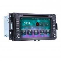 Android 9.0 Rádio DVD Sistema de navegação GPS 2006-2009 Hummer H3 com HD Touch Screen Bluetooth WiFi TV Câmera de backup Câmera Controle de volante 1080P