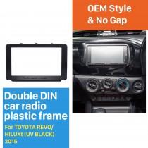 173 * 98 milímetros Double Din 2015 Toyota Hilux Revo Radio Car Fascia DVD Quadro Dash Mount áudio adaptador de montagem