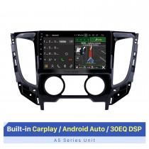 9 polegadas Android 10.0 2015 Mitsubishi TRITON Manual A / C 1024 * 600 Rádio Touchscreen com GPS Navi USB FM Bluetooth WIFI com suporte RDS Carplay 4G DVD Player