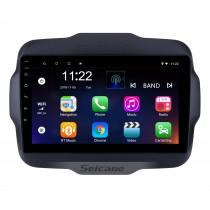 2016 Jeep Renegade 9 polegadas Touchscreen Android 10.0 Rádio GPS sistema de Navegação com USB Bluetooth WIFI 1080 P Aux Mirror Link Controle do volante