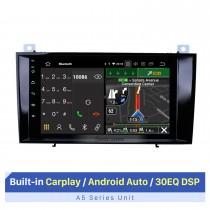 8 polegadas Android 10.0 para Mercedes Benz CLS Classe 2000-2011 Sistema de navegação GPS com rádio e tela sensível ao toque HD com suporte para Bluetooth Carplay OBD2
