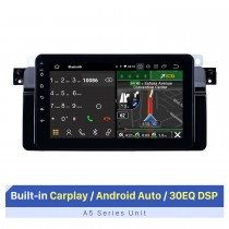 Rádio de navegação GPS Android 10.0 de 8 polegadas para 1998-2006 BMW Série 3 E46 M3 2001-2004 MG ZT 1999-2004 Rover 75 com HD Touchscreen Carplay Bluetooth compatível com SWC DVR