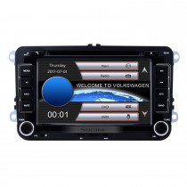Double Din DVD Player Navegação GPS para 2003-2011 VW Volkswagen Golf Plus Passat B6 Rádio Bluetooth Phone Car Stereo Support AUX DVR Controle do volante
