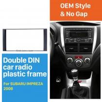 173 * 98mm Double Din Fase de rádio de carro para 2008-2013 Subaru Impreza Trim Painel de instalação Kit Adaptador de montagem de quadro de áudio