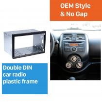 173 * 98mm Double Din Universal Car Radio Fascia Kit de instalação Kit de quadro de painel de quadro estéreo