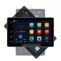 Android 10.0 10.1 polegadas HD 180 ° tela giratória para rádio universal com sistema de navegação GPS Bluetooth USB compatível com câmera retrovisor carplay