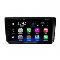 Android 10.0 HD Touchscreen de 9 polegadas para SKODA OCTAVIA 2014 Sistema de navegação GPS por rádio com suporte para Bluetooth Câmera traseira Carplay