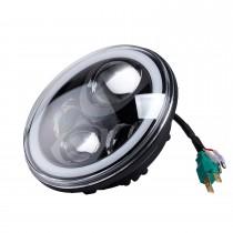 Farol dianteiro do halo do halo do carro de 7 polegadas Refere as lâmpadas redondas do dia para 1996-2017 Jeep Wrangler 2PCs