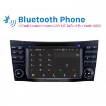 7 polegadas 2001-2008 Mercedes Benz Classe G W463 Tela sensível ao toque Android 10.0 Navegação GPS Rádio Bluetooth Carplay Suporte USB SWC TPMS Câmera retrovisora