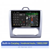 """9 """"HD 1024 * 600 Android 10.0 Para 2004-2011 Ford Focus 2 Auto A / C Bluetooth Rádio GPS Navegação GPS Estéreo para carro Tela sensível ao toque USB RDS DAB + Controle do volante"""