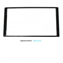 173 * 98mm Double Din Car Radio Fascia para 2006 KIA FIESTA Stereo Dash CD DVD Painel de áudio